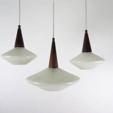 set of 3x 1950 lamps