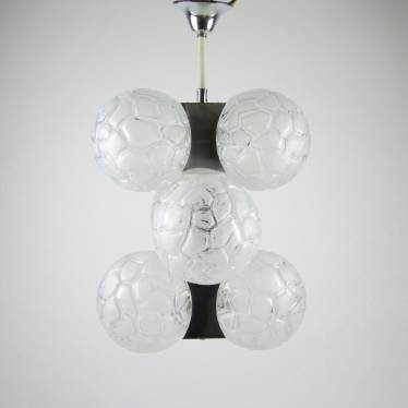 Sixties pendant lamp with balls