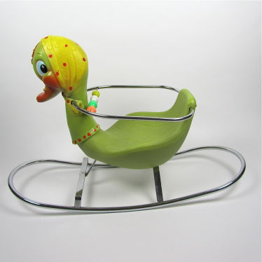 Vintage rocking duck small detail A