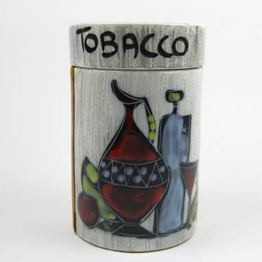 Vintage tobacco jar ceramic