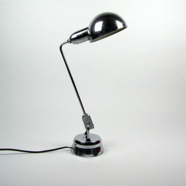 Vintage chromen bureaulamp small detail A