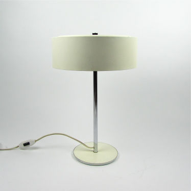 Vintage witte tafellamp small detail A