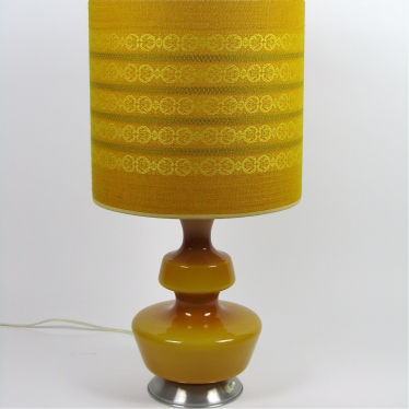 Vintage table lamp of glass