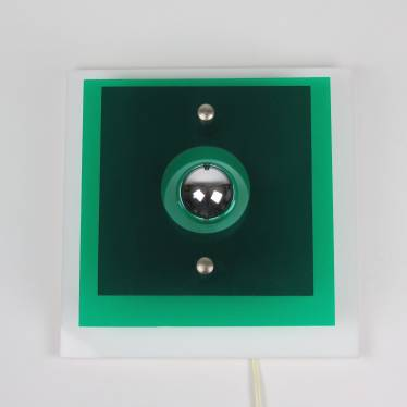 Green wall lamp 70s small detail A